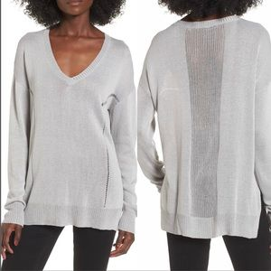 ASTR the Label Open Lines V Neck Sweater